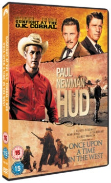 GUNFIGHT AT THE OK CORAL / HUD / ONCE UPON A TIME IN THE WEST 3DVD REGION 2 VG