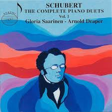 SCHUBERT-THE COMPLETE PIANO DUETS VOL 1 GLORIA SAARINEN ARNOLD DRAPER 2CD LN