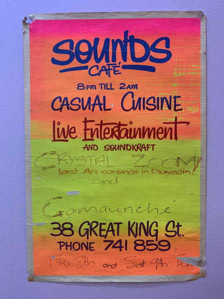 CRYSTAL ZOOM GAMAUNCHE SOUNDS CAFE GIG POSTER