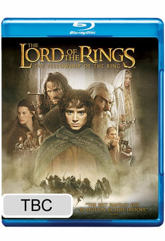 LORD OF THE RINGS-THE FELLOWSHIP OF THE RING BLURAY VG+