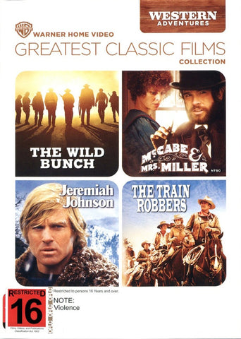 GREATEST CLASSIC WESTERN FILMS 4DVD VG