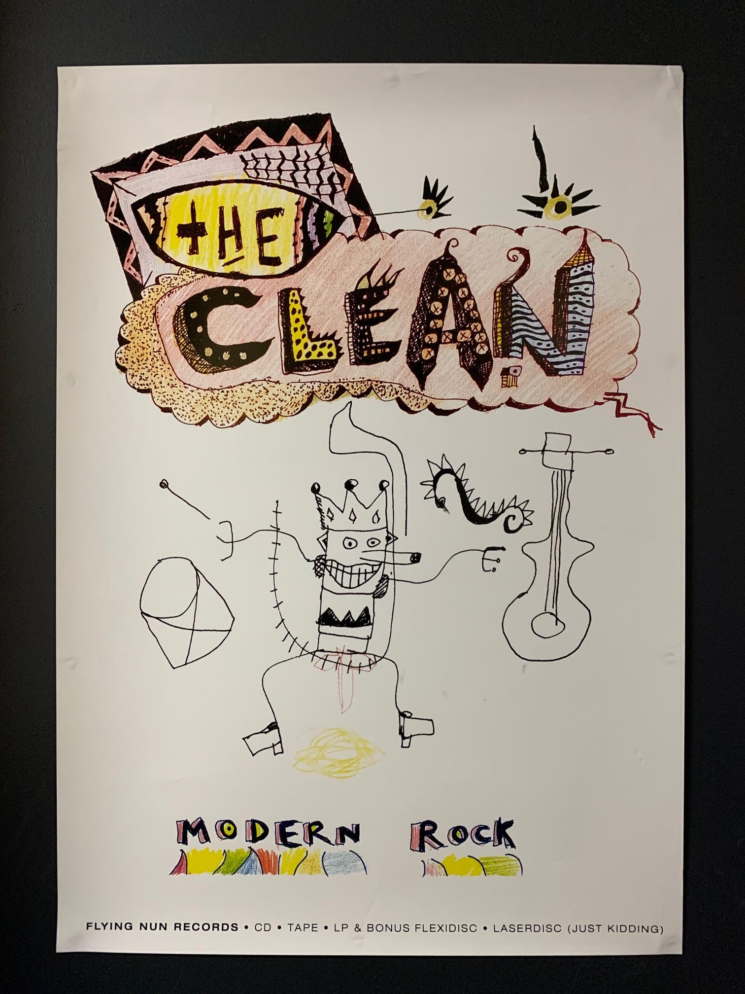 CLEAN THE-MODERN ROCK ORIGINAL PROMO POSTER