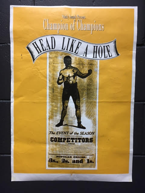 HEAD LIKE A HOLE CHAMPION POSTER REVERSE SETLIST