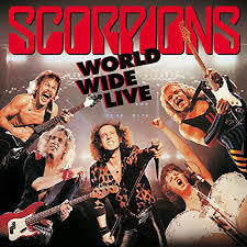 SCORPIONS-WORLD WIDE LIVE 2LP VG+ COVER VG+