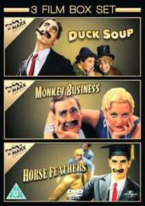 DUCK SOUP + MONKEY BUSINESS + HORSE FEATHERS REGION TWO 3DVD VG+