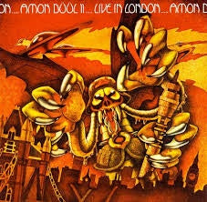 AMON DUUL II-LIVE IN LONDON LP VG+ COVER VG