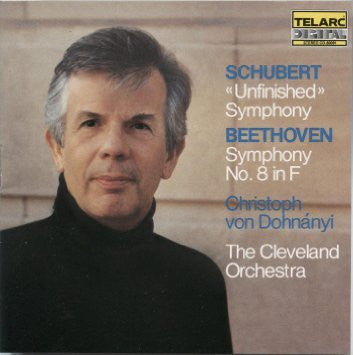 SCHUBERT + BEETHOVEN-UNFINISHED + SYMPHONY NO 8 DOHNANYI CD VG