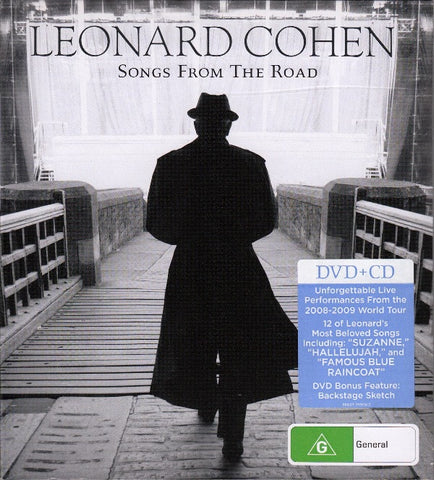 COHEN LEONARD-SONGS FROM THE ROAD CD + DVD VG+