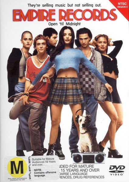 EMPIRE RECORDS DVD VG