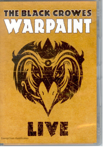 BLACK CROWES THE-WARPAINT DVD *NEW*