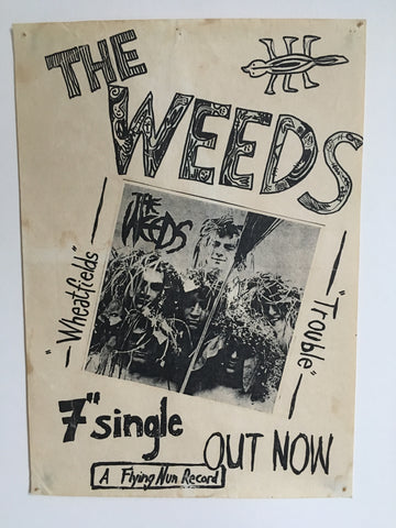 WEEDS THE-WHEATFIELDS 7'' SINGLE ORIGINAL PROMO POSTER