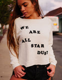 Star Dust Monte Crop Sweater