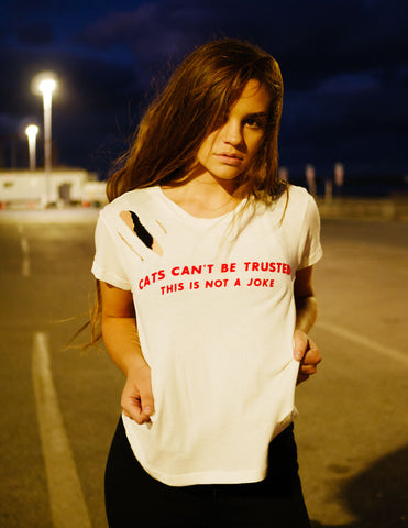 Wildfox Cats Can't Be Trusted Tee - Bungalow Seven