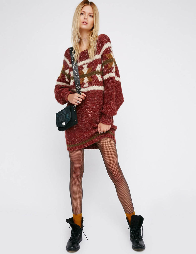 Free People - Northern Lights Sweater Dress - Bungalow Seven - 1