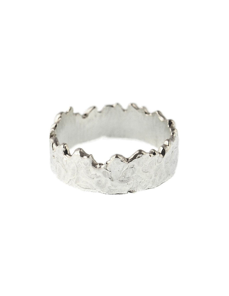 CFD Fine Jewelry - Wide Coastline Band Sterling Silver - Bungalow Seven