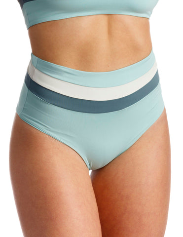 L*Space Portia Stripe Bottom Light Turquoise - Bungalow Seven