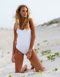 Tavik Lila Ribbed One Piece White - Bungalow Seven