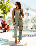 One Teaspoon Hooligan Overalls Super Khaki - Bungalow Seven