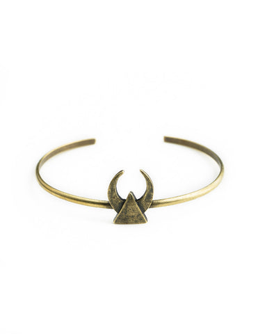The 2 Bandits Midnight Crescent Cuff Brass - Bungalow Seven