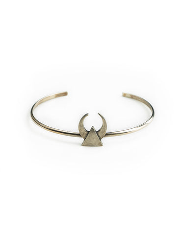 The 2 Bandits Midnight Crescent Cuff Silver - Bungalow Seven