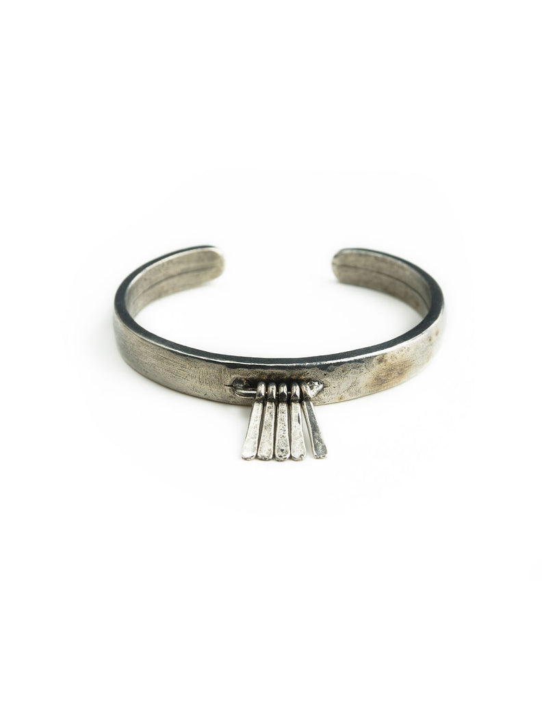 The 2 Bandits Lion's Head Cuff Silver - Bungalow Seven