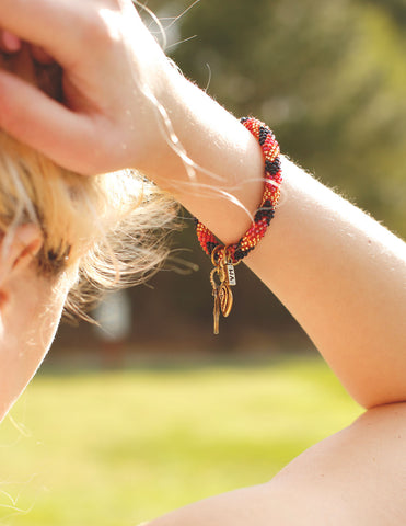 Vanessa Mooney - The Patsy Bracelet-red - Bungalow Seven