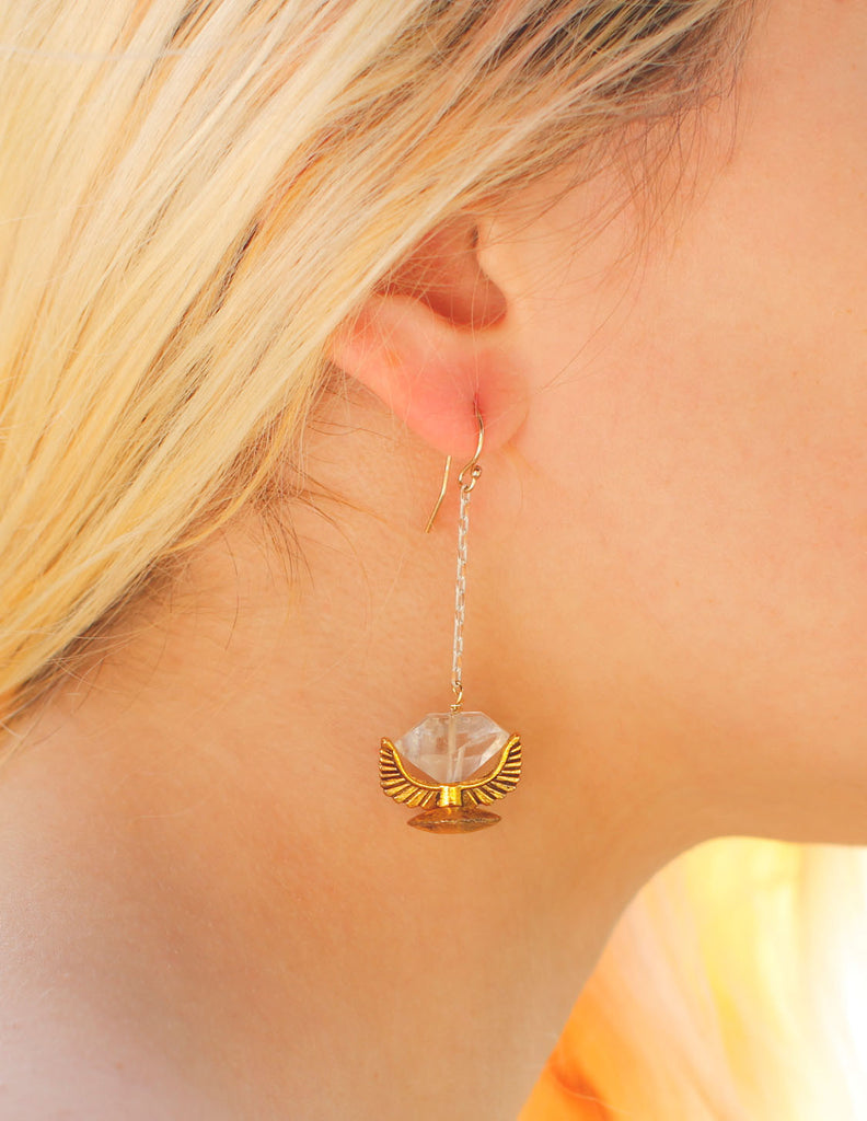 Heather Kahn - Totem Earring White - Bungalow Seven - 1
