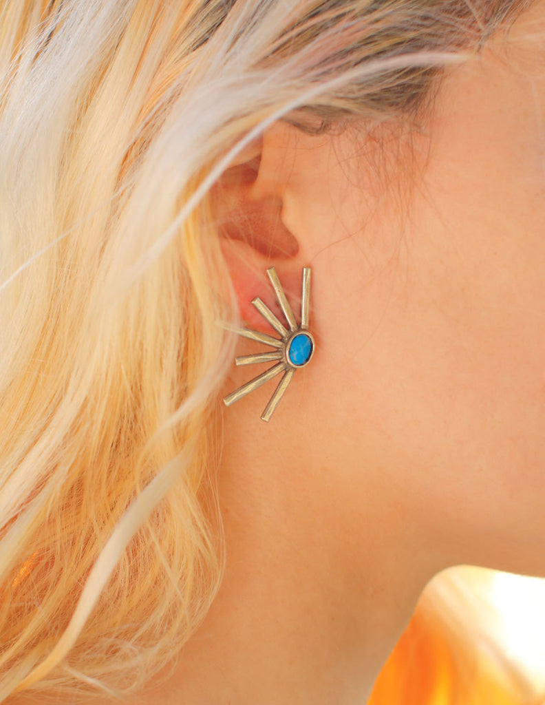 The 2 Bandits - Sunshine Daydream Earring-silver - Bungalow Seven - 1