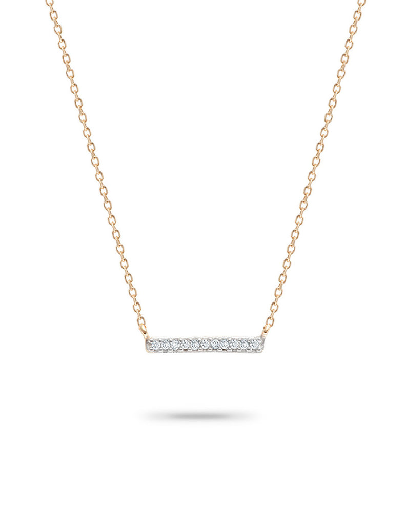 Adina Reyter - Pavé Bar Necklace - Bungalow Seven