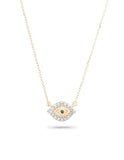 Adina Reyter - Super Tiny Pavé Evil Eye Necklace - Bungalow Seven