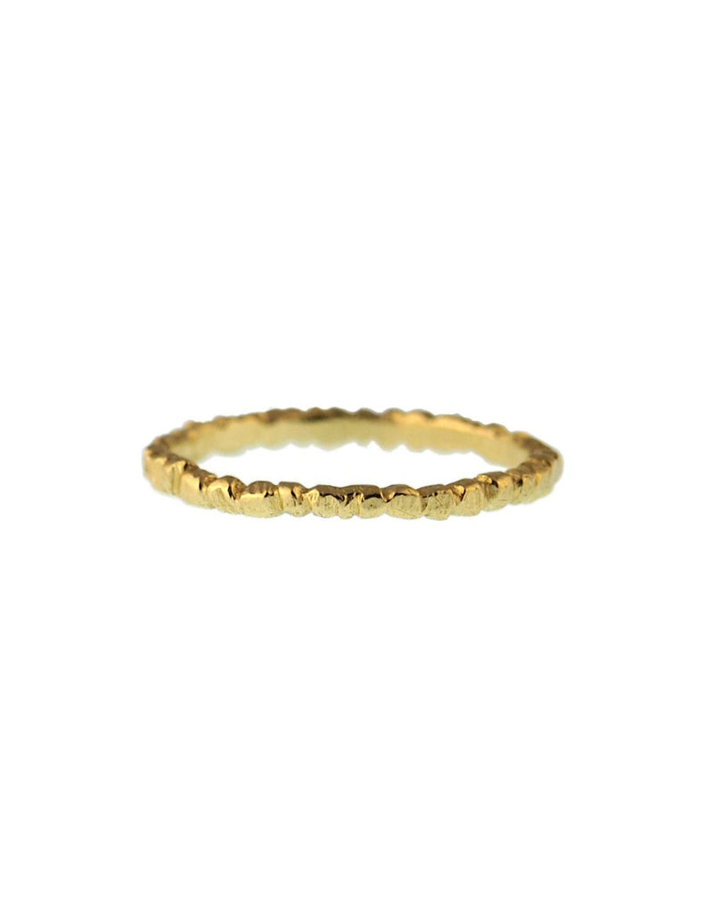 CFD Fine Jewelry - Thin Textured Stacker 14k Gold - Bungalow Seven
