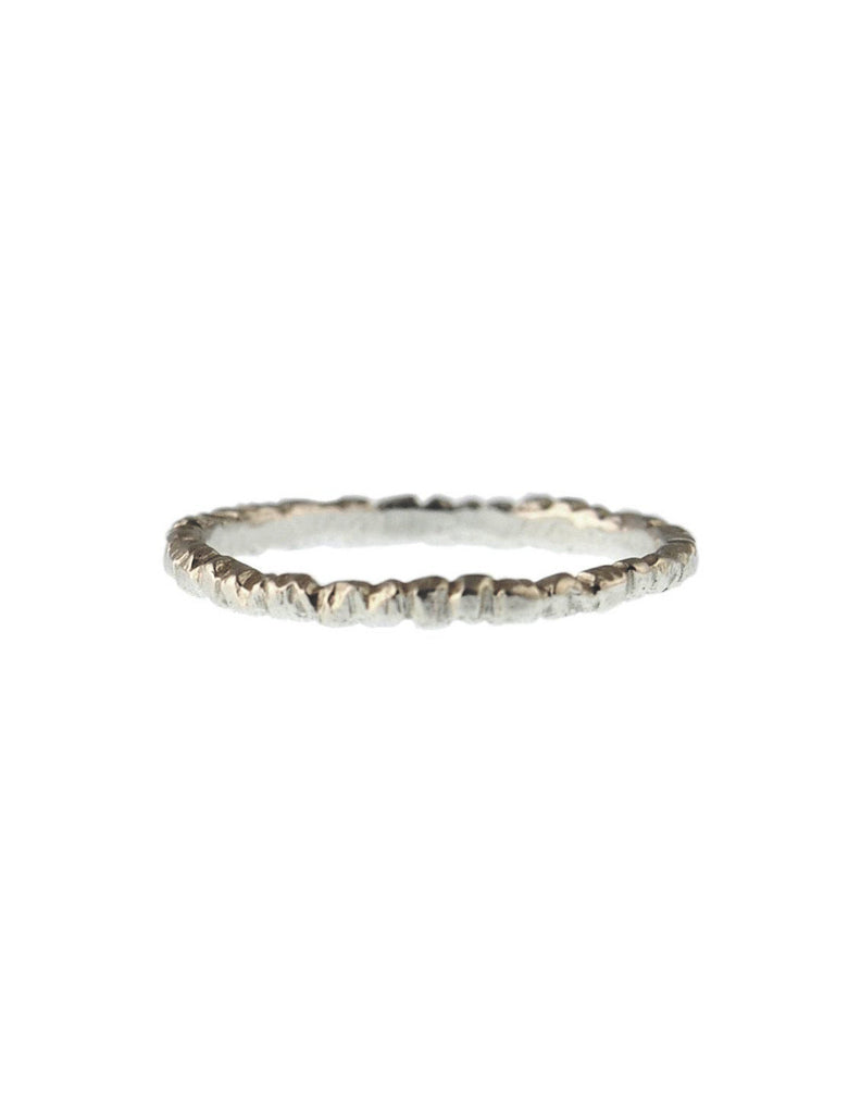 CFD Fine Jewelry - Thin Textured Stacker Sterling Silver - Bungalow Seven