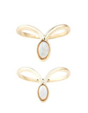 The 2 Bandits - Little Wing Gold Ring Set - Bungalow Seven - 1