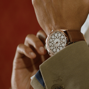 Andalusian Swiss Timepiece - Men Rose Gold & White