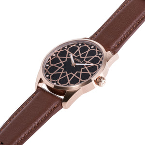 Andalusian Swiss Timepiece - Rose Gold & Black