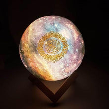 Load image into Gallery viewer, Quran Galaxy Lamp Speaker Quran Moon Lamp galaxy UK