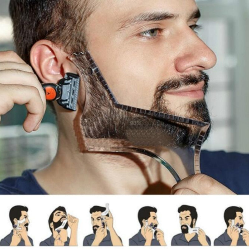 Beard Shaping & Styling Template Comb