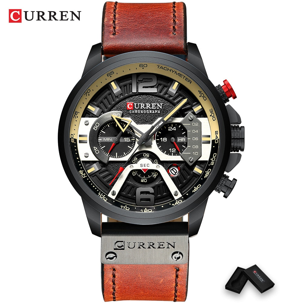 Uzfur™ Curren Casual Sport Luxury Watch