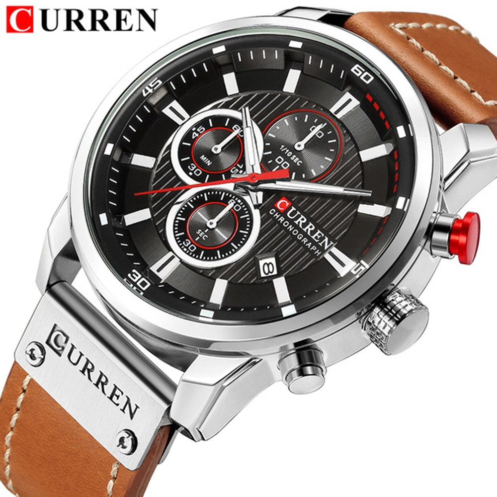 Uzfur™ Curren Chronograph Men's Luxury Watch