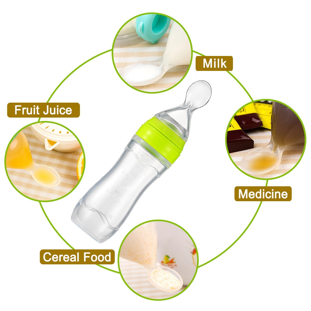 Uzfur™ Baby Spoon Bottle