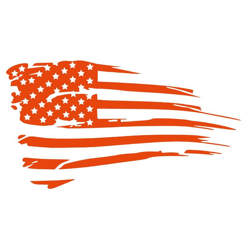 "USA Bedside Distressed Flag Decal - 18"" X 35"""