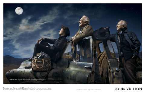 Lois Vuitton 'Core Values'  with Buzz Aldrin, Jim Lovell and Sally Ride by Annie Leibovitz