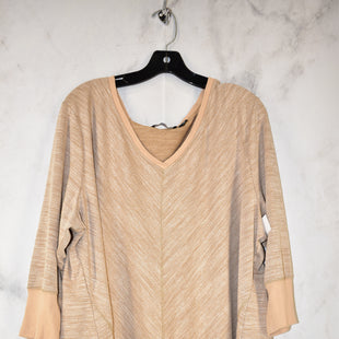 Primary Photo - BRAND: HALSTON STYLE: TOP LONG SLEEVE COLOR: TAN SIZE: 2X SKU: 186-186217-3284