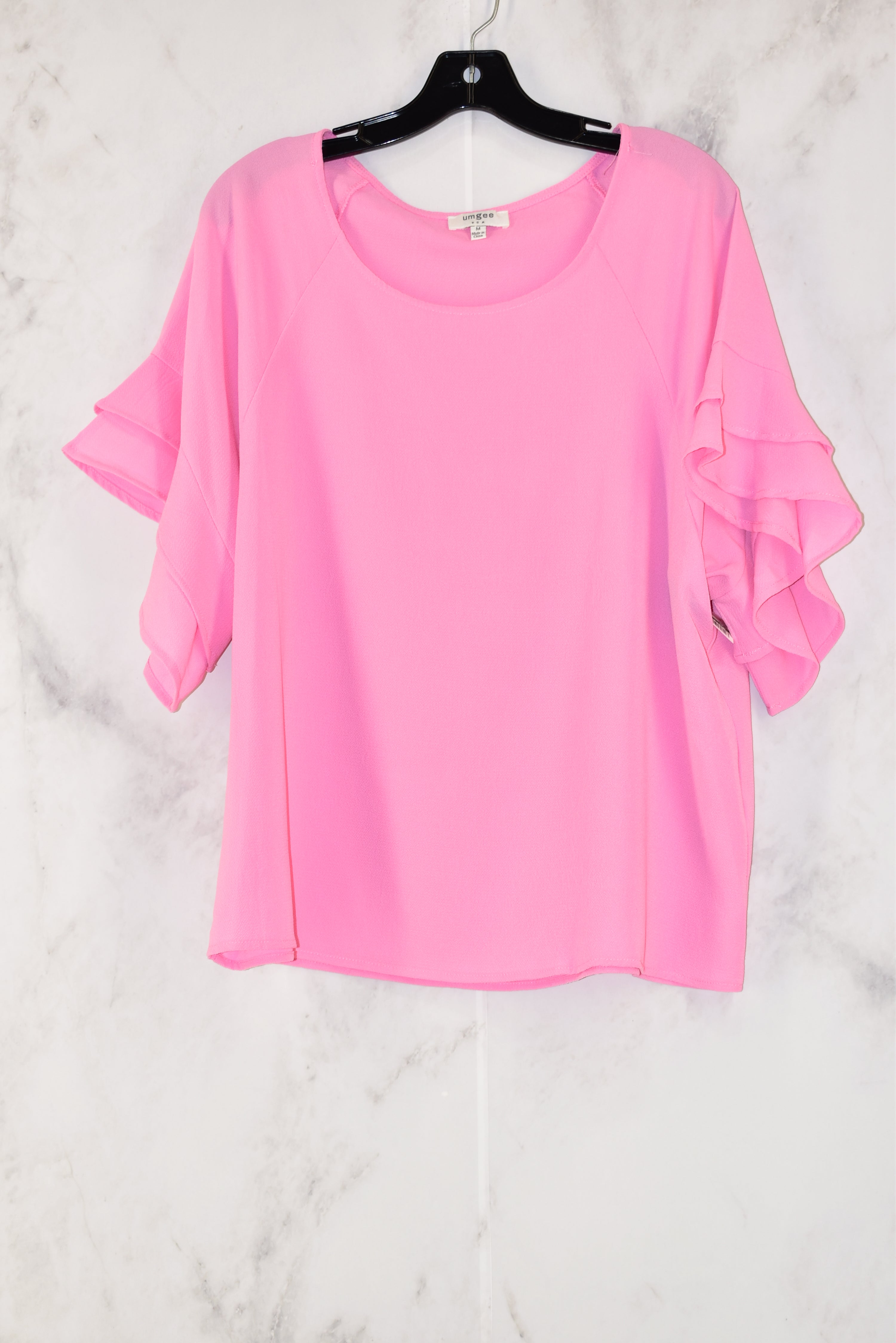 Primary Photo - BRAND: UMGEE<BR>STYLE: TOP SHORT SLEEVE<BR>COLOR: PINK<BR>SIZE: M<BR>SKU: 186-186215-653