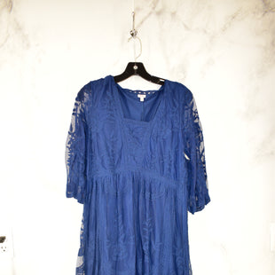 Primary Photo - BRAND: REBA STYLE: DRESS LONG LONG SLEEVE COLOR: NAVY SIZE: L SKU: 186-186217-3506