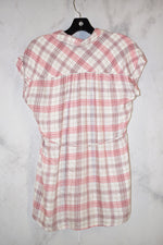 Photo #1 - BRAND: MOTHERHOOD <BR>STYLE: MATERNITY TOP SHORT SLEEVE <BR>COLOR: PLAID <BR>SIZE: S <BR>SKU: 186-186106-9124