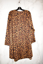 Photo #1 - BRAND:    CLOTHES MENTOR <BR>STYLE: DRESS SHORT LONG SLEEVE <BR>COLOR: ANIMAL PRINT <BR>SIZE: 2X <BR>OTHER INFO: LUCKY & BLESSED - <BR>SKU: 186-186221-788