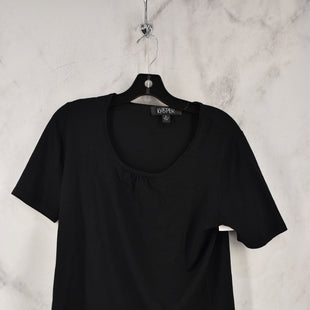 Primary Photo - BRAND: KASPER STYLE: TOP SHORT SLEEVE COLOR: BLACK SIZE: L SKU: 186-186217-7738
