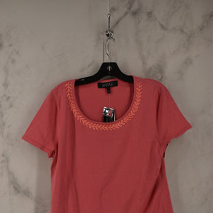 Primary Photo - BRAND: KASPER STYLE: TOP SHORT SLEEVE COLOR: PINK SIZE: L SKU: 186-186217-7737