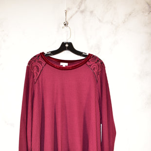 Primary Photo - BRAND: CHARMING CHARLIE STYLE: TOP LONG SLEEVE COLOR: MAROON SIZE: 2X SKU: 186-186217-3500